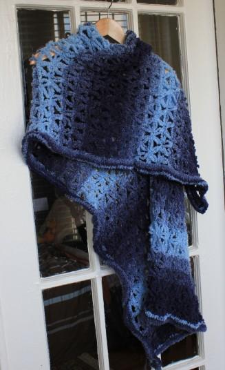 Boucle Shawl--Blue