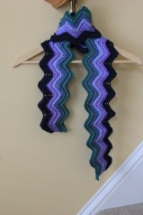 Chevron Sunset Sea Scarf