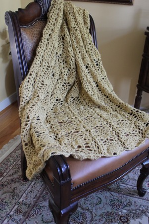 Pineapple Lace Afghan